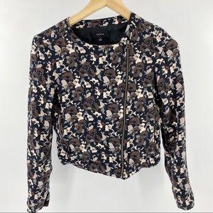 Aritzia Talula floral cropped jacket